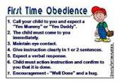 First Time Obedience Reminder Cards -  Laminated