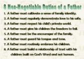 Father's Mandate Reminder Cards - Sheet of eight - Laminated